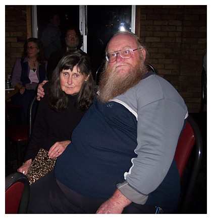 The 'last ever' photograph of Shirley and Rod together: Cooks River Motor Boat Club, Tempe NSW (Saturday - June 2, 2007).